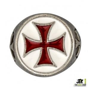 White/RedTemplar Cross Ring 21mm
