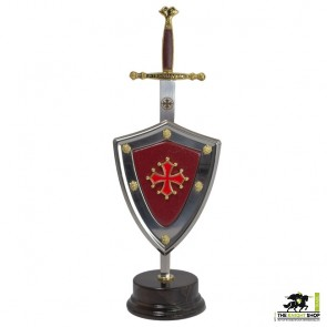 Cathars Letter Opener and Shield Set