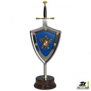 Charles V Letter Opener and Shield Set