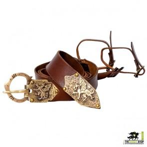 Order of the Dragon Sword Belt - Antique Brass