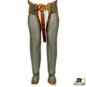 Zinc Plated Chainmail Chausses (Leggings) - Butted