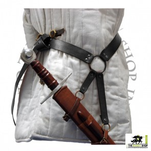 Late Medieval Sword Belt - Black