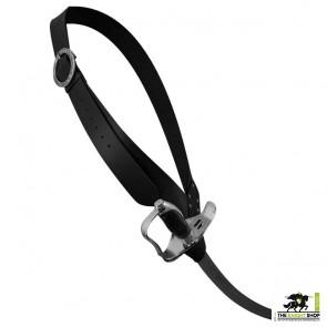 Pirate Baldric Belt - Black Leather