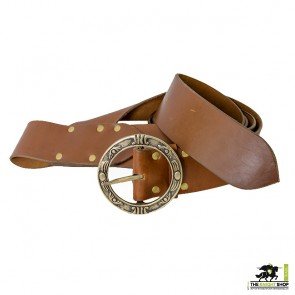 Pirate Baldric Belt - Brown Leather