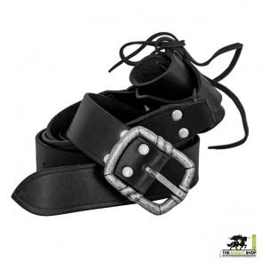 Medieval Double Wrap Sword Belt - Black