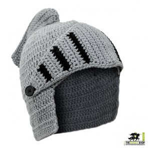 Knitted Knight Helmet Hat – Adult Size