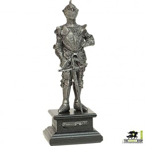 Miniature Pewter Knight with Crossbow