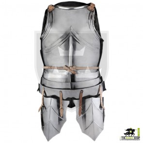 15th Century German Back and Breastplates (Cuirass) with Tassets - 18 gauge