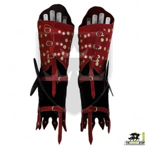 14th Century Reinforced Suede Cuisses - Red