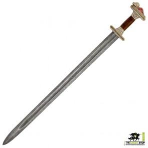 Grave 32 Vendel Chieftain's Sword - Tin Plated - Damascus Steel