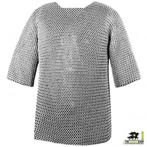 """Chainmail Haubergeon - Dome Riveted - 50"""" Chest"""
