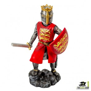 Case of 12 - Edward I Figurines with Sword - 18cm