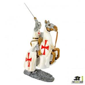 Case of 6 - Templar Knight on Horseback Figurines