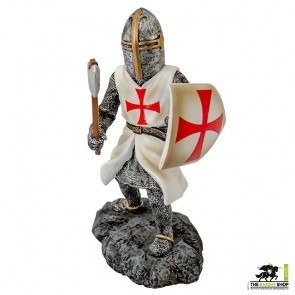 Case of 12 - Fighting Templar Knight with Axe Figurines - 18cm