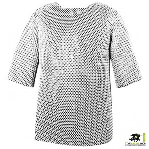 """Chainmail Haubergeon - Butted - Zinc Plated - 44"""" Chest"""