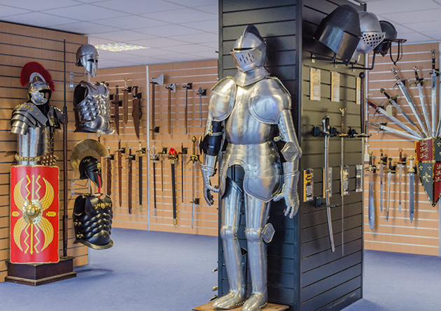 The Knight Shop Showroom - UK largest supplier of historical swords, armour and historical giftware