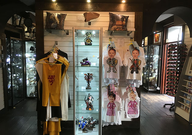 Medieval tabards and kids clothes at the Knight Shop